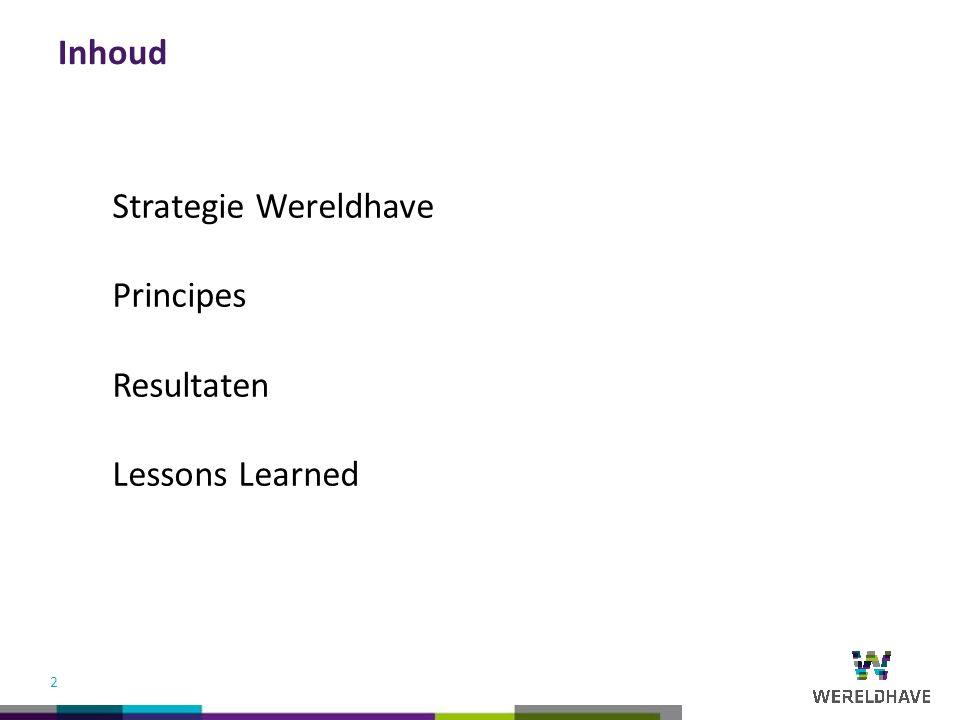 R0 G176 B240 R150 G194 B37 R106 G215 B255 R189 G215 B218 R252 G216 B7 R191 G191 B191 R99 G31 B129 R80 G175 B196 R135 G195 B196 R60 G60 B59 Wereldhave kleuren R68 G26 B102 2 Strategie Wereldhave Principes Resultaten Lessons Learned Inhoud