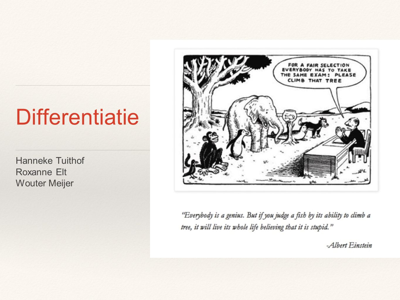 Opzet van de workshop ❖ Wat is differentiatie ❖ Voorbeelden uit de praktijk ❖ Tips