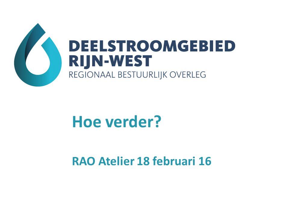 Hoe verder? RAO Atelier 18 februari 16