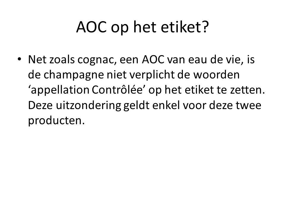 AOC op het etiket.