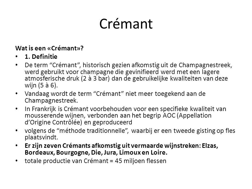 Crémant Wat is een «Crémant».1.