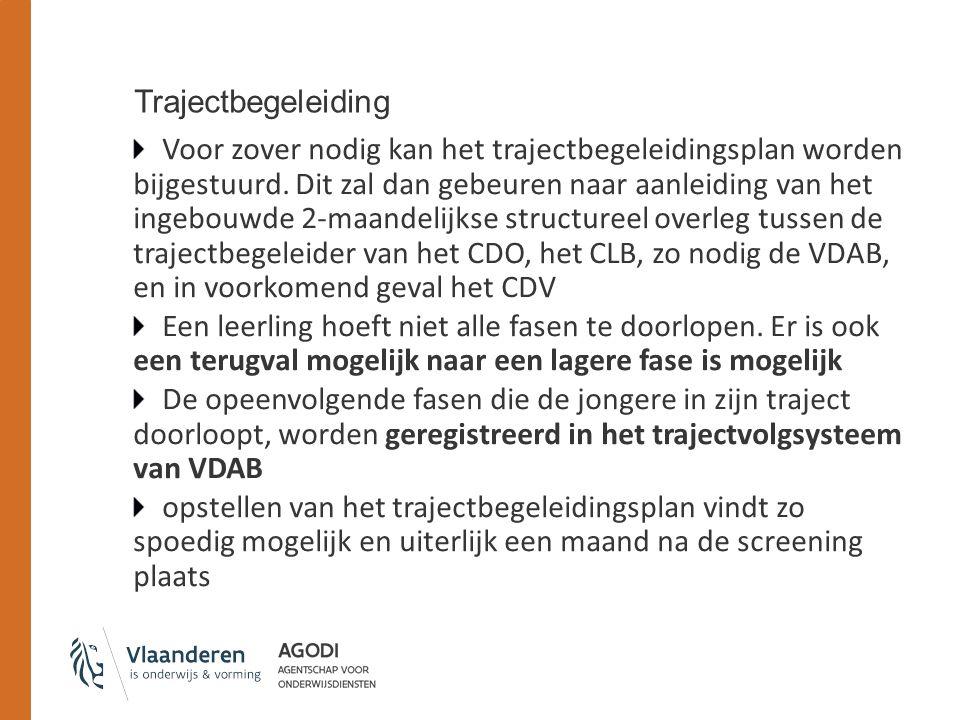 Trajectbegeleiding Voor zover nodig kan het trajectbegeleidingsplan worden bijgestuurd.