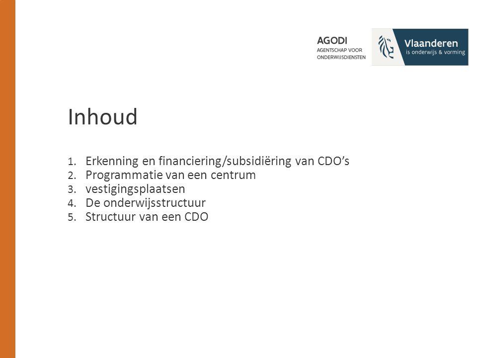 1. Erkenning en financiering/subsidiëring van CDO's 2.