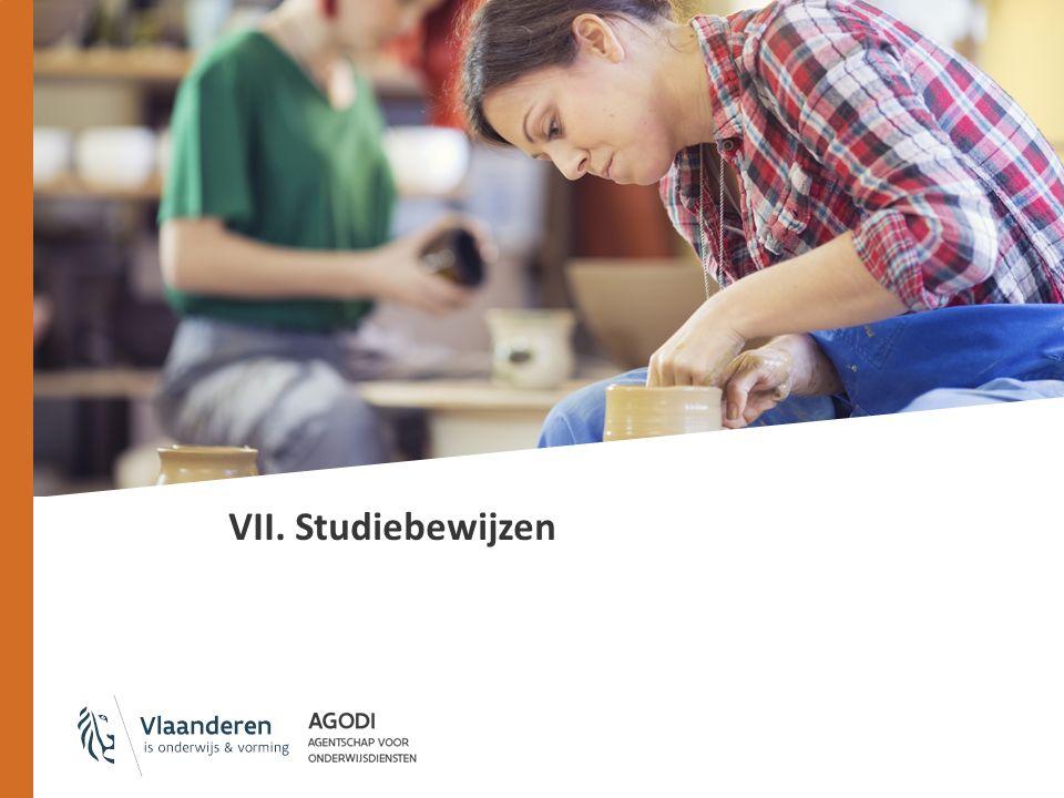 VII. Studiebewijzen