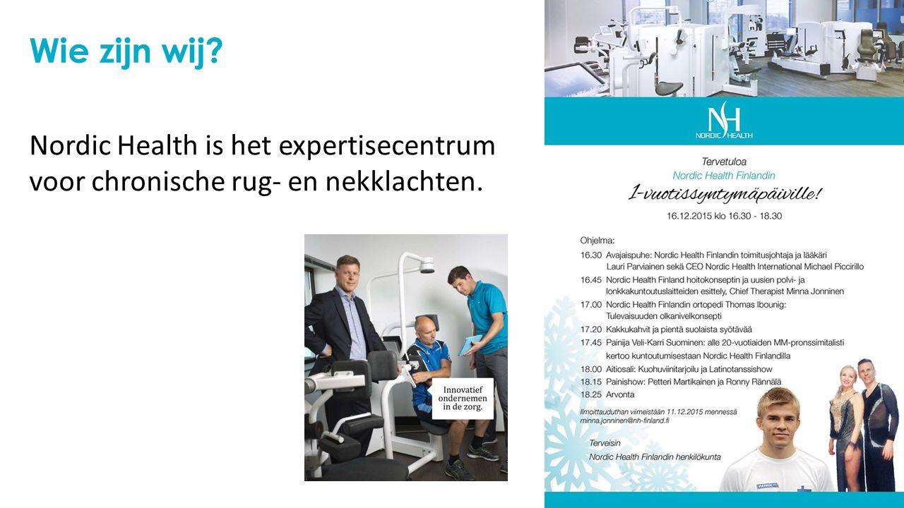 Wie zijn wij? Nordic Health is het expertisecentrum voor chronische rug- en nekklachten.