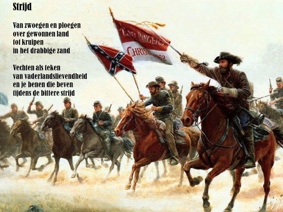 Het knallen van de kanonnen van de cavalerie En de angstaanjagende bommen van de infanterie Geluiden van moorden dringen door tot de steden, de oude oorden waar de mensen streden In elke tijd is een soldaat werkelijk tot alles in staat Lisa de Rooij