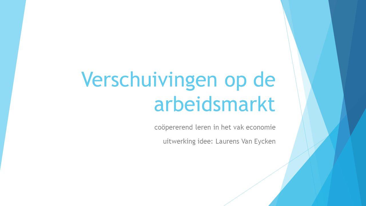 uitwerking idee: Laurens Van Eycken Verschuivingen op de arbeidsmarkt coöpererend leren in het vak economie