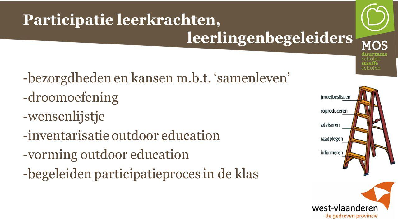 Participatie leerkrachten, leerlingenbegeleiders -bezorgdheden en kansen m.b.t.