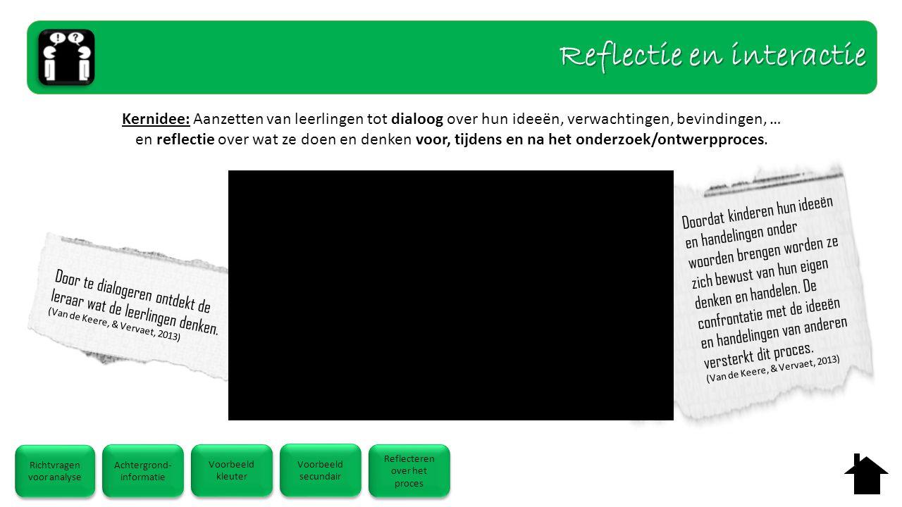 Door te dialogeren ontdekt de leraar wat de leerlingen denken. (Van de Keere, & Vervaet, 2013) Doordat kinderen hun ideeën en handelingen onder woorde