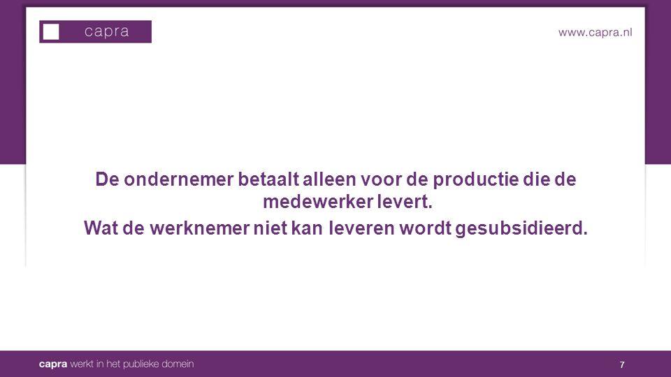 De ondernemer betaalt alleen voor de productie die de medewerker levert.