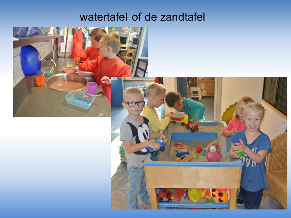 watertafel of de zandtafel