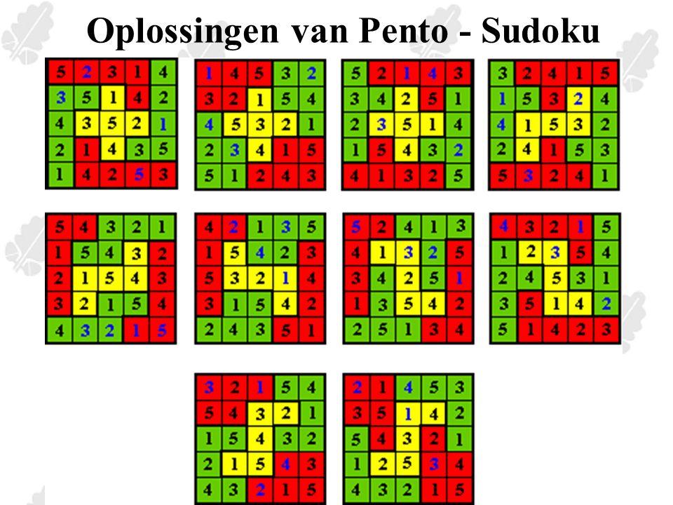 Oplossingen van Pento - Sudoku
