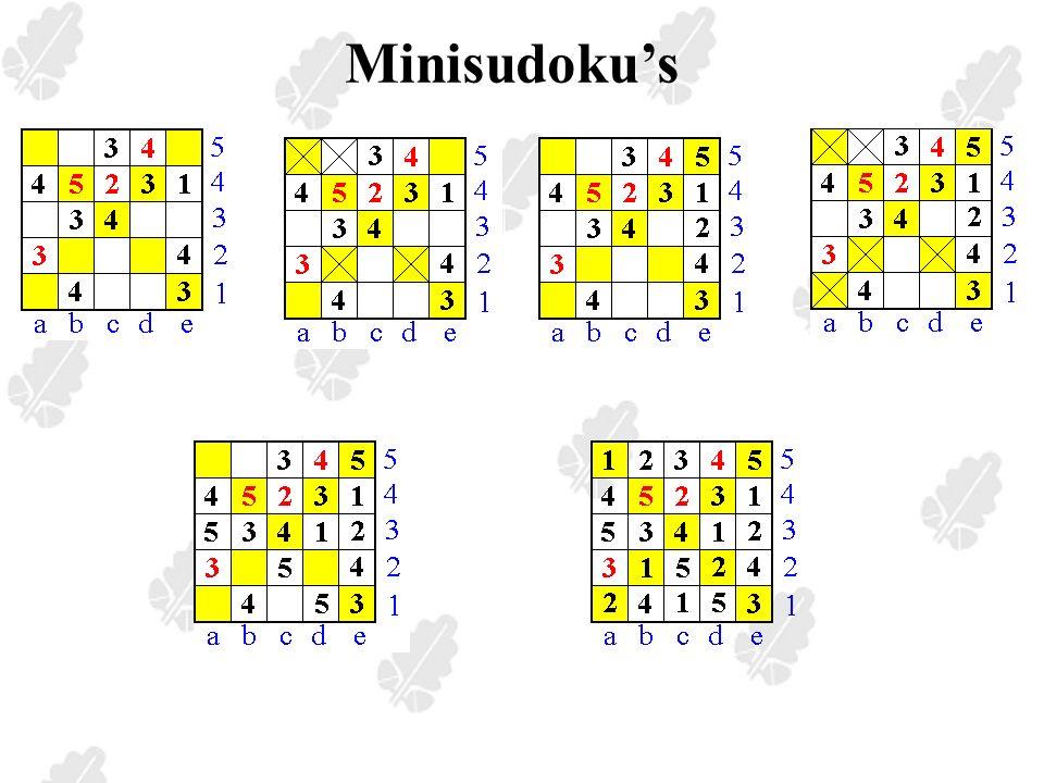 Minisudoku's