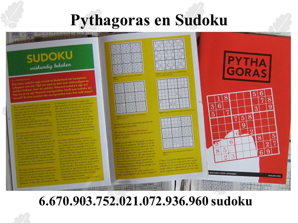 Pythagoras en Sudoku-light wedstrijd