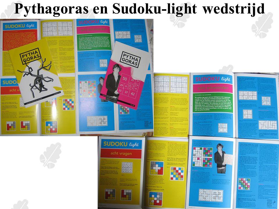 Sudoku-light wedstrijd Vraag 1 Een 4x4-vierkant is gevuld met de cijfers 1,2,3 en 4 zodat in elke rij, in elke kolom en in elk 2x2-blok elk cijfer één keer voorkomt.
