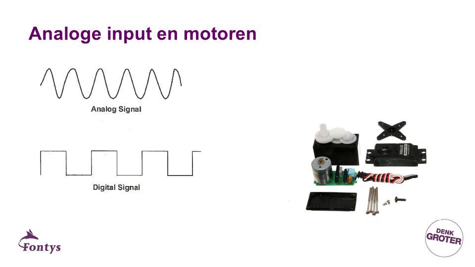 Analoge input en motoren