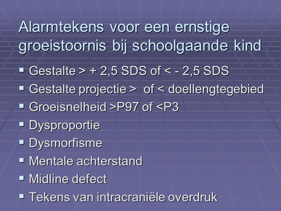 Geslachtschromosomiale afwijkingen met grote gestalte  47, XXY; 48,XXXY (Klinefelter syndroom)  47, XXX  47, XYY