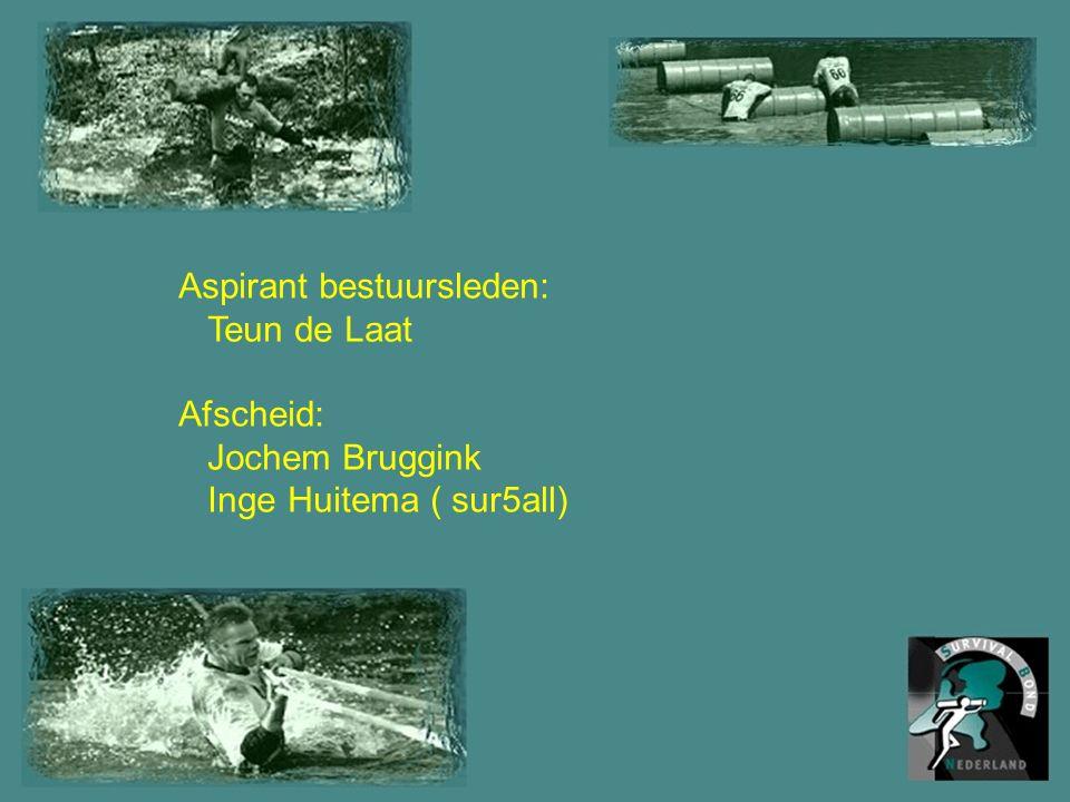 Aspirant bestuursleden: Teun de Laat Afscheid: Jochem Bruggink Inge Huitema ( sur5all)