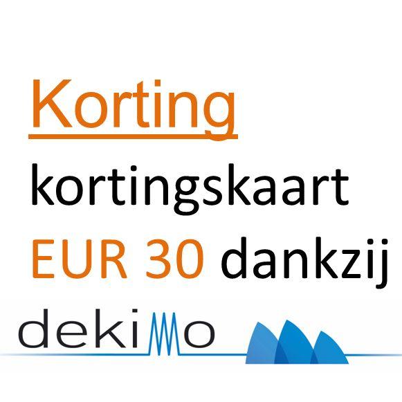 Korting kortingskaart EUR 30 dankzij