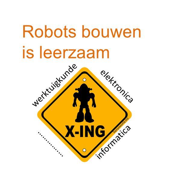 Robots bouwen is leuk! voldoening groepsactiviteit plezant