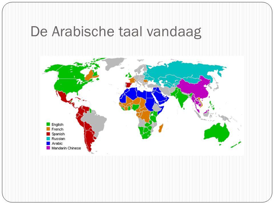 De Arabische taal vandaag