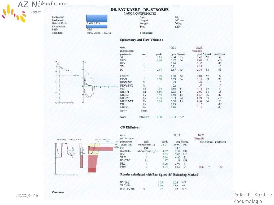 20/02/2016 Dr Kristin Strobbe Pneumologie