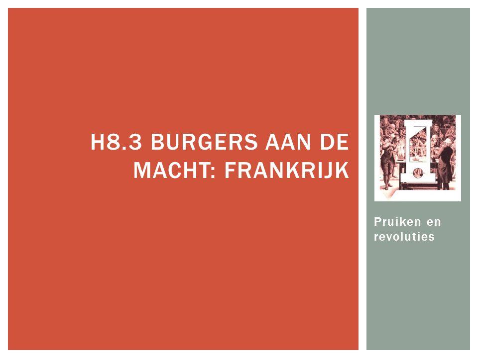 Pruiken en revoluties H8.3 BURGERS AAN DE MACHT: FRANKRIJK