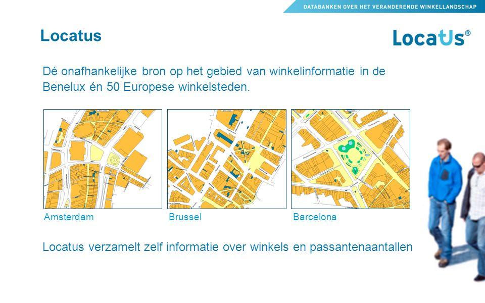 Locatus Dé onafhankelijke bron op het gebied van winkelinformatie in de Benelux én 50 Europese winkelsteden.
