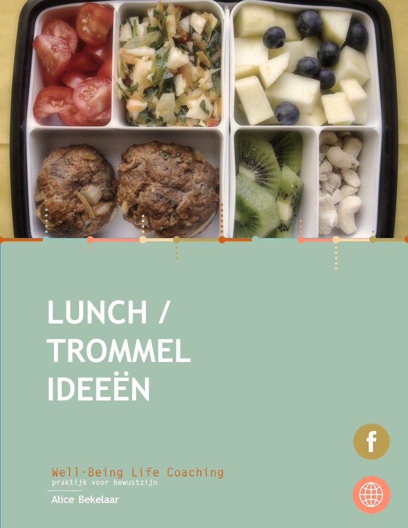 VOEDING & VARIATIE Om voldoende voedingsstoffen binnen te krijgen is het belangrijk om te variëren.