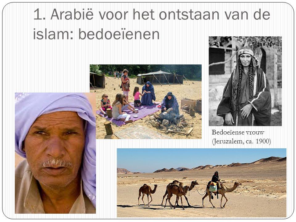 1. Arabië voor het ontstaan van de islam: bedoeïenen Bedoeïense vrouw (Jeruzalem, ca. 1900)