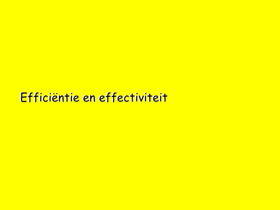 Efficiëntie en effectiviteit