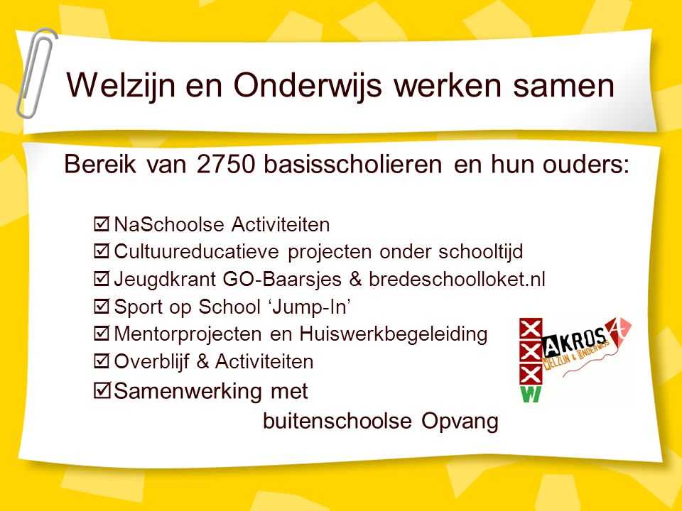Doelstelling School als veilige haven om te leren, talentontwikkeling.