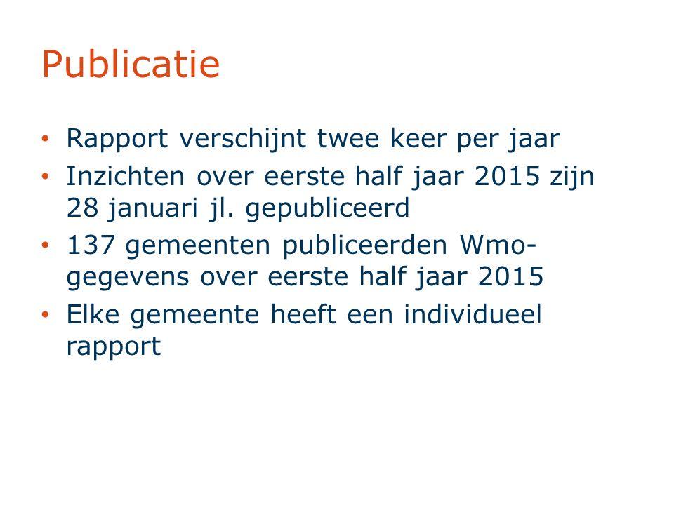 Publicatie Rapport verschijnt twee keer per jaar Inzichten over eerste half jaar 2015 zijn 28 januari jl.