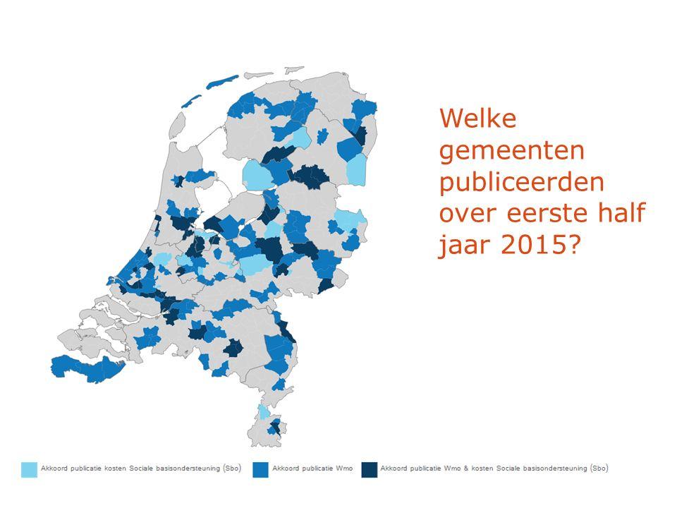 Welke gemeenten publiceerden over eerste half jaar 2015?