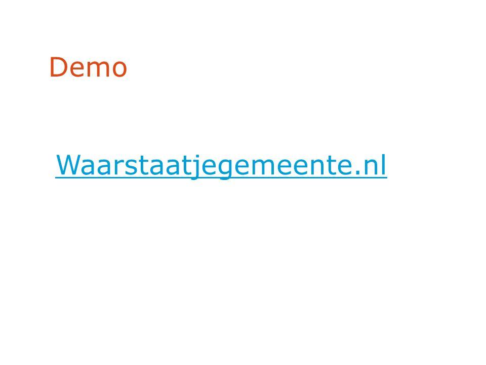 Demo Waarstaatjegemeente.nl