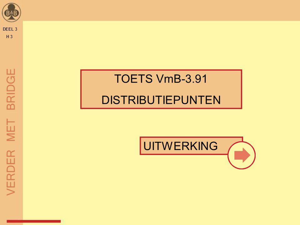 TOETS VmB-3.91 DISTRIBUTIEPUNTEN DEEL 3 H 3 UITWERKING
