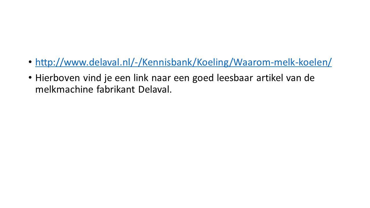 http://www.delaval.nl/-/Kennisbank/Koeling/Waarom-melk-koelen/ Hierboven vind je een link naar een goed leesbaar artikel van de melkmachine fabrikant
