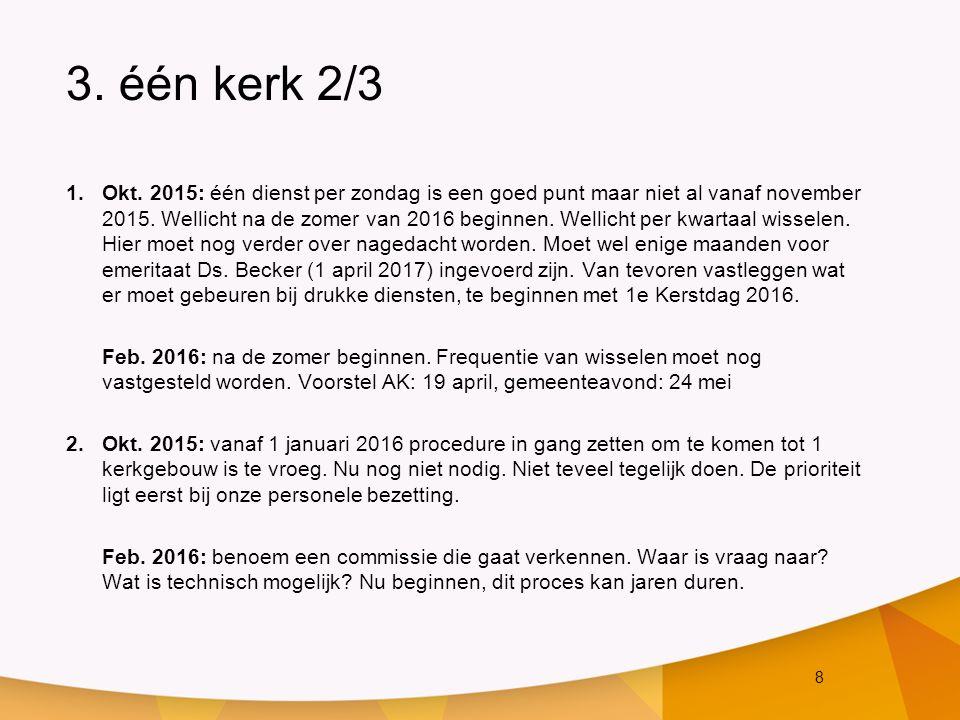 19 7.Financiën 2/3 Actiepunten n.a.v.aanbeveling (vervolg): 4.Verkoop van beide pastorieën.