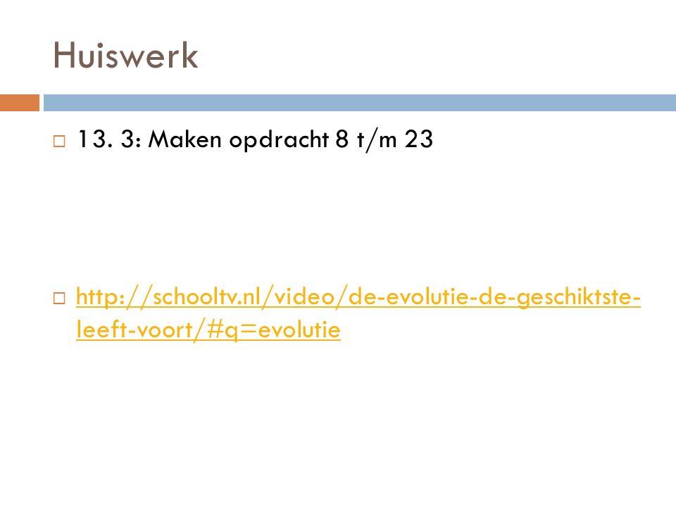 Huiswerk  13.