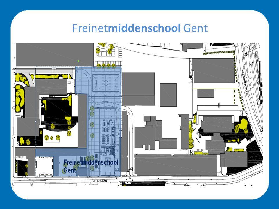 Freinetmiddenschool Gent bestaande vleugel benedenverdieping