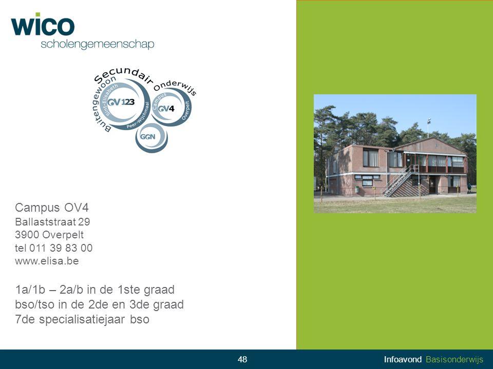 Campus OV4 Ballaststraat 29 3900 Overpelt tel 011 39 83 00 www.elisa.be 1a/1b – 2a/b in de 1ste graad bso/tso in de 2de en 3de graad 7de specialisatie
