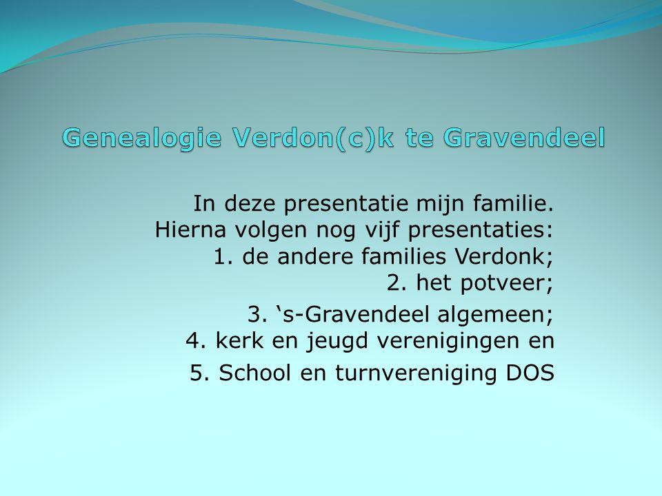 In deze presentatie mijn familie.Hierna volgen nog vijf presentaties: 1.