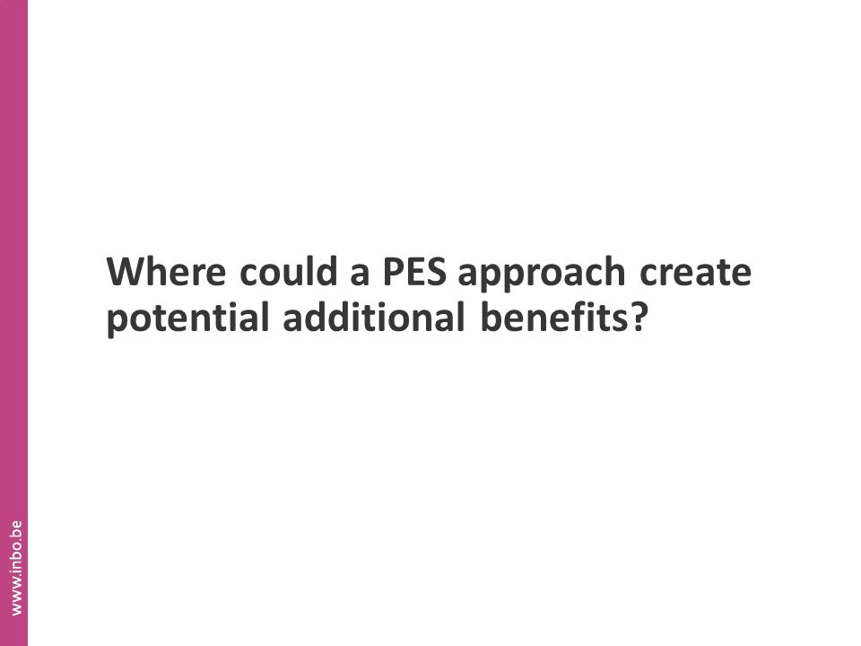 Where could a PES approach create potential additional benefits?