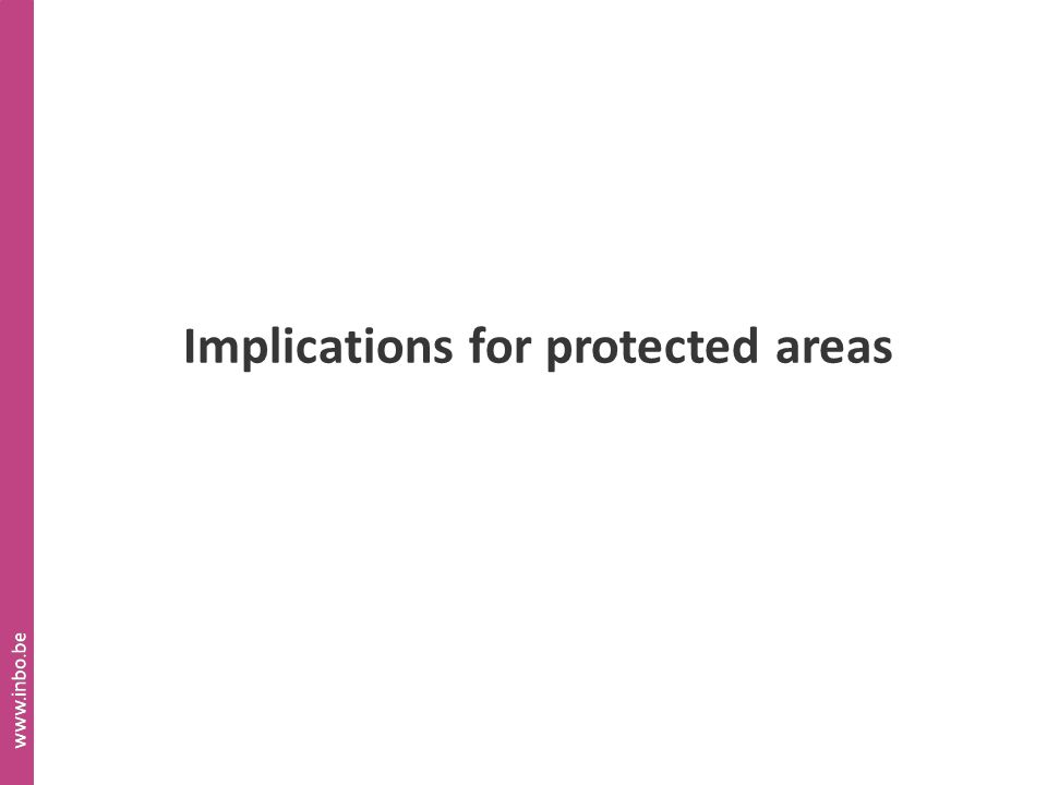 Implications for protected areas