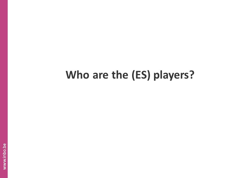 Who are the (ES) players?