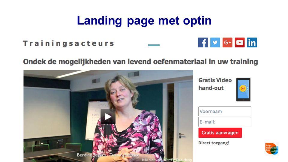 Landing page met optin