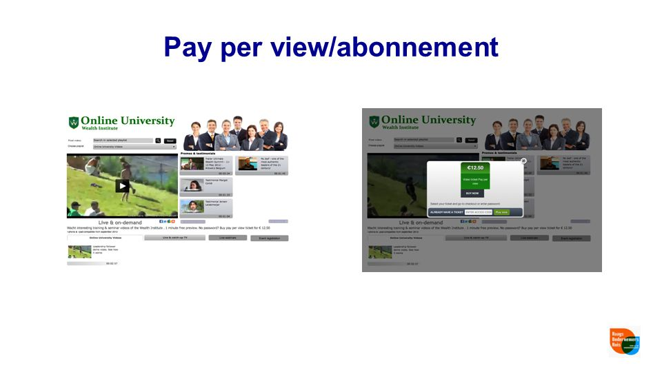 Pay per view/abonnement