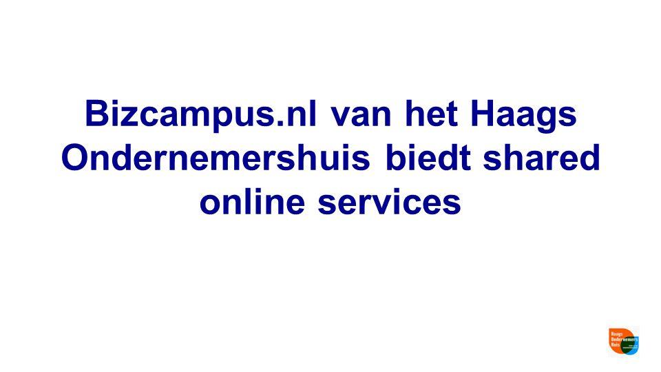 Bizcampus.nl van het Haags Ondernemershuis biedt shared online services