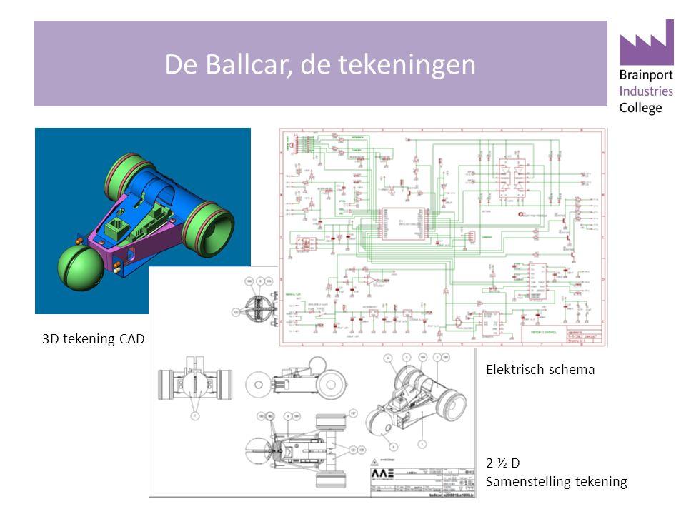 De Ballcar, de tekeningen 3D tekening CAD tekening Elektrisch schema 2 ½ D Samenstelling tekening