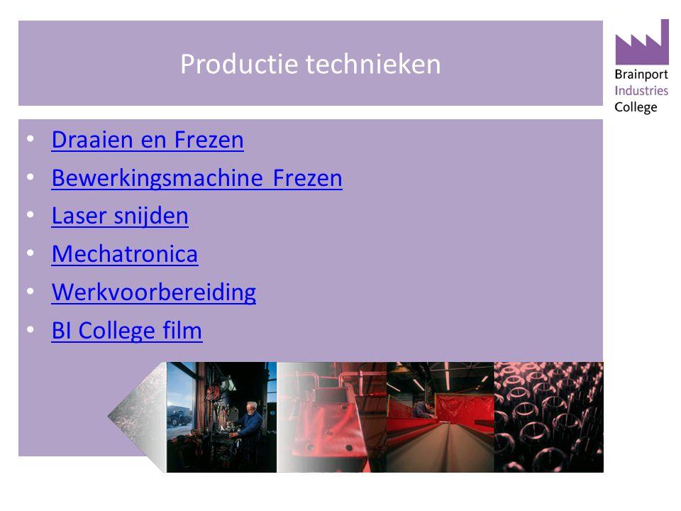 Productie technieken Draaien en Frezen Bewerkingsmachine Frezen Laser snijden Mechatronica Werkvoorbereiding BI College film